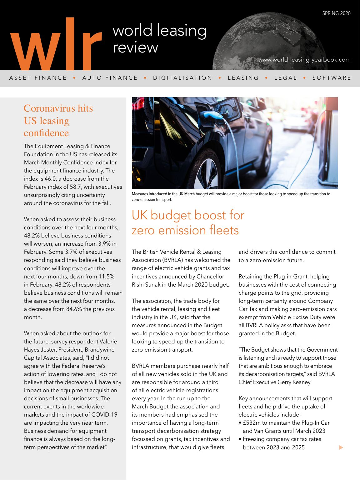 World Leasing Review Spring 2020 Issue