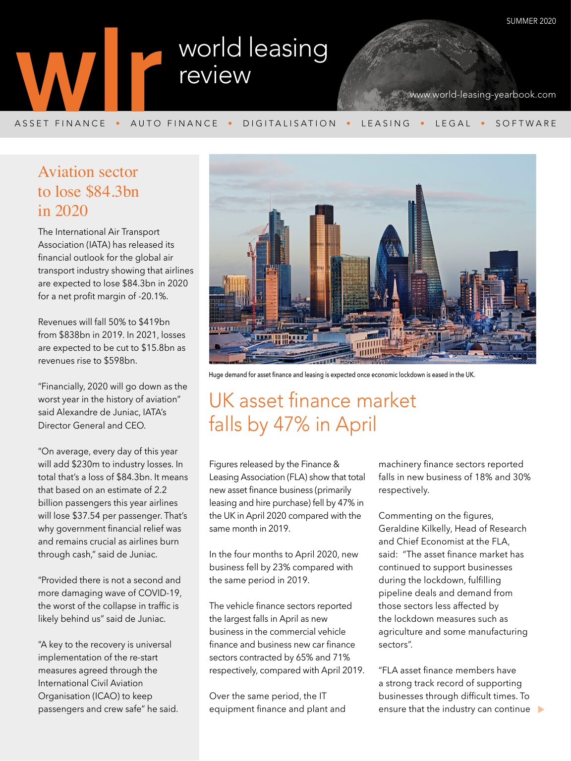 World Leasing Review Summer 2020 Issue