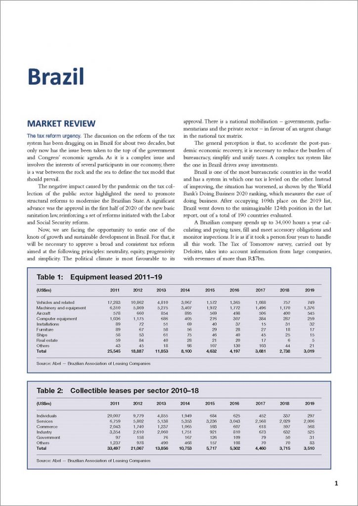BRAZIL LEASING REVIEW
