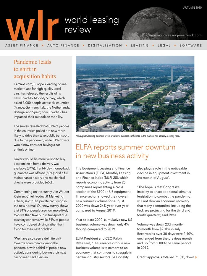 World Leasing Review Autumn 2020 Edition