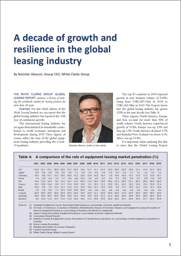 The White Clarke Global Leasing Report