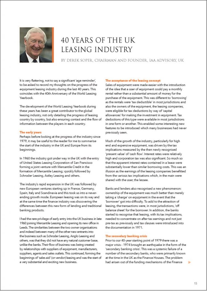 40 Years of the UK Leasing Industry