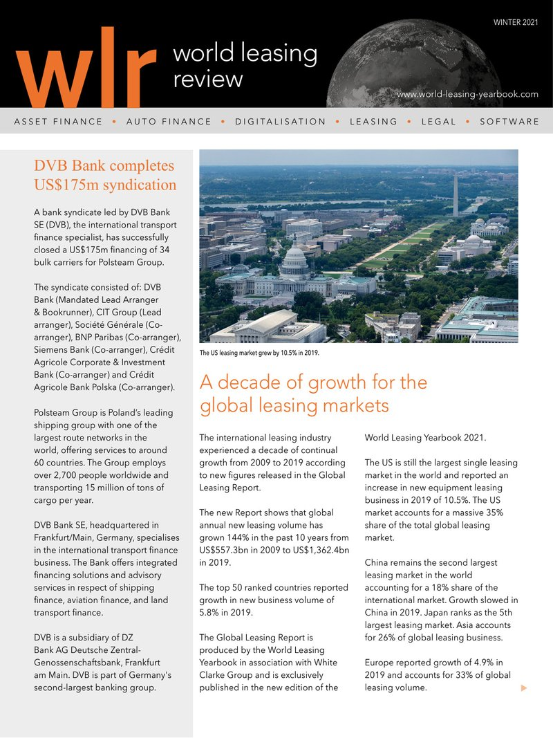 World Leasing Review Winter 2021 Issue