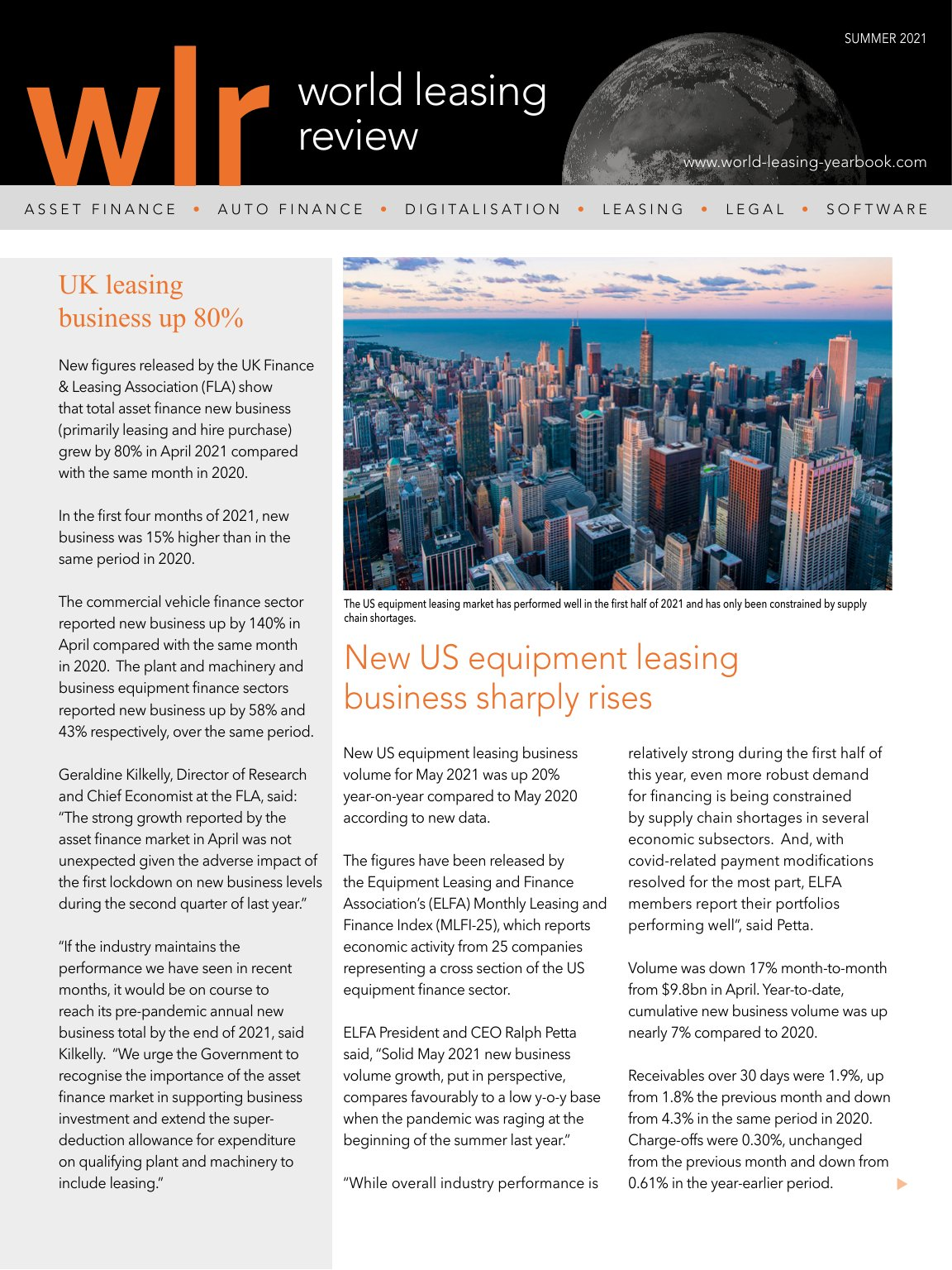 World Leasing Review Summer 2021 Issue